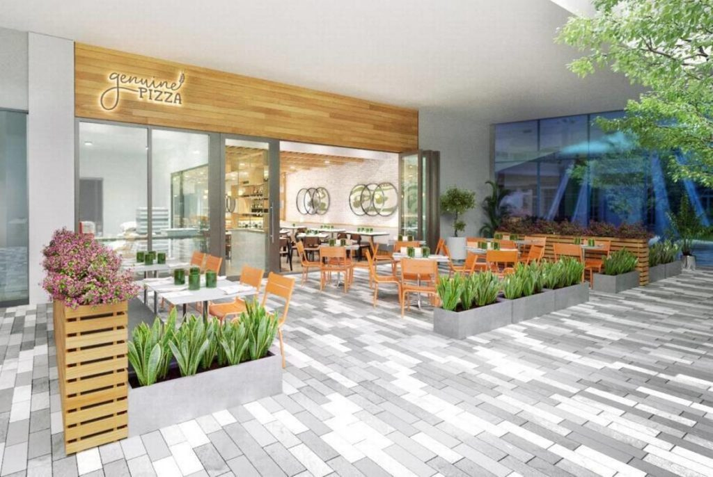 This rendering of the Aventura location will be the model for all future Genuine Pizza restaurants. (Genuine Hospitality Group)