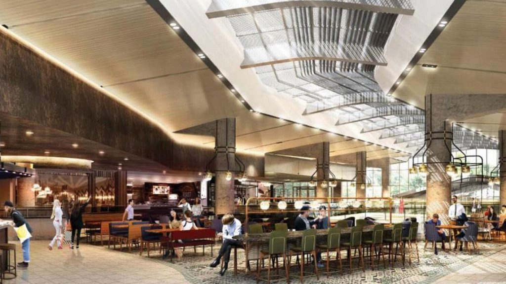 The food hall at this popular mall has gone upscale.
