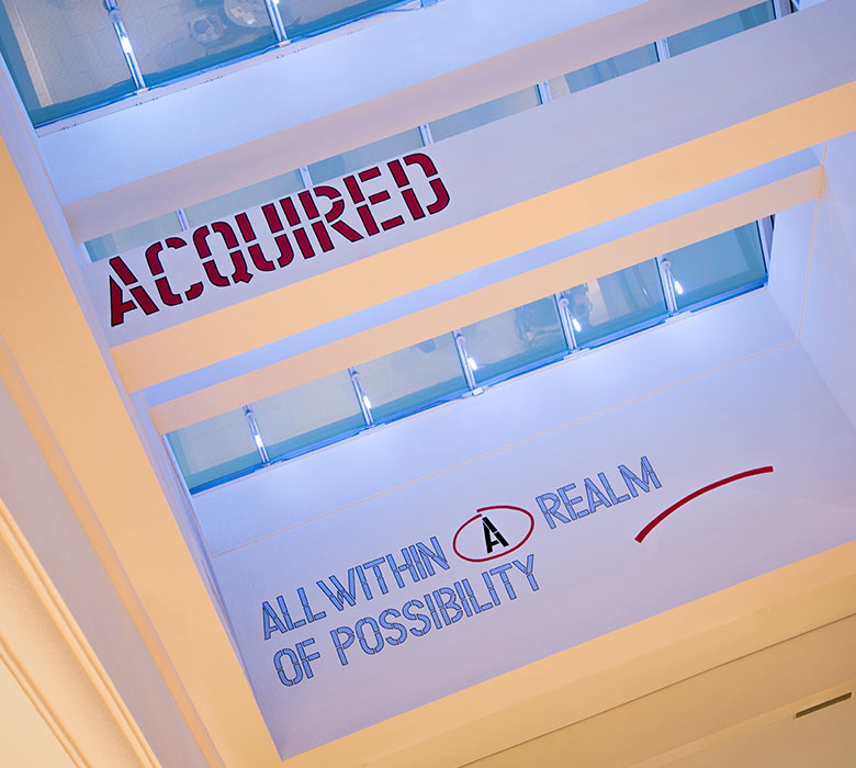 All Within the Realm of Possibility by Lawrence Weiner at Aventura Mall in Miami