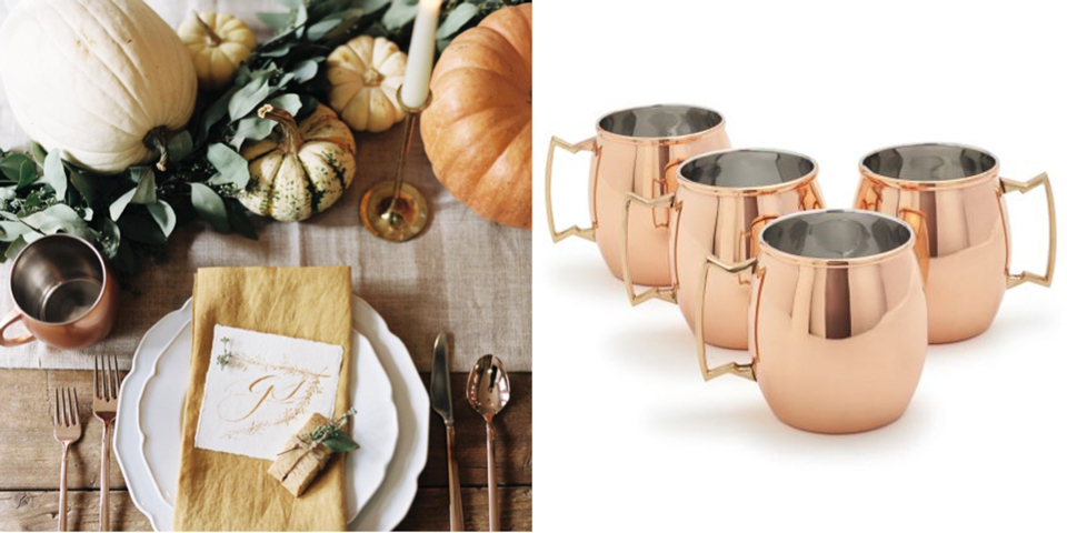 Photo by @loveandhoneywed; Moscow Mule Mugs (Set of 4) at Sur La Table, $79.95