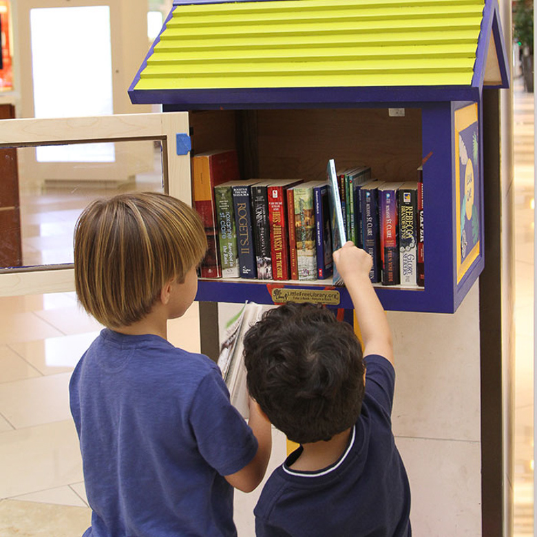 Free Book Exchange at Aventura Mall in Miami