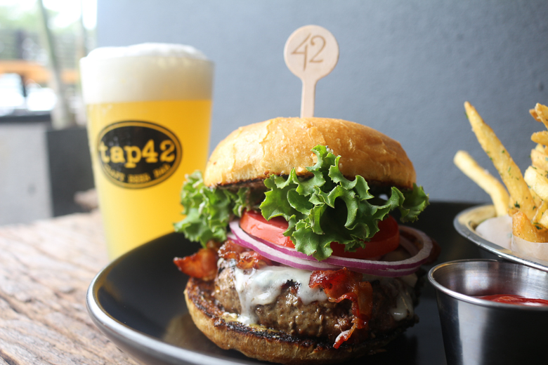 Tap 42 Kitchen & Bar dining at Aventura Mall in Miami