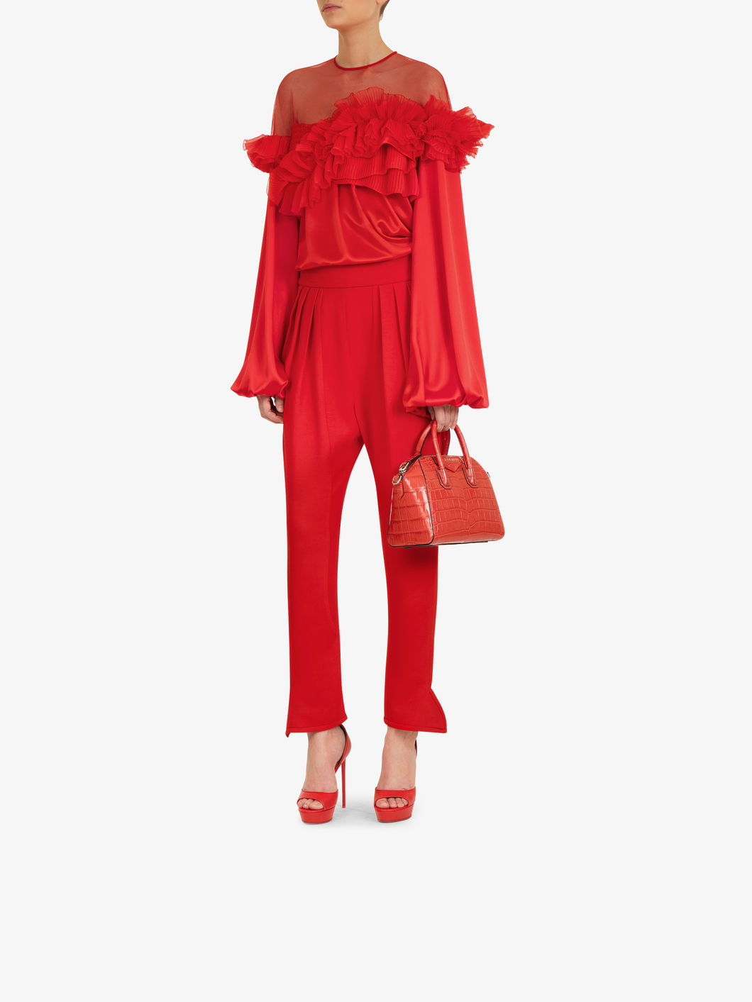 Red Blouse at Givenchy, $2,695