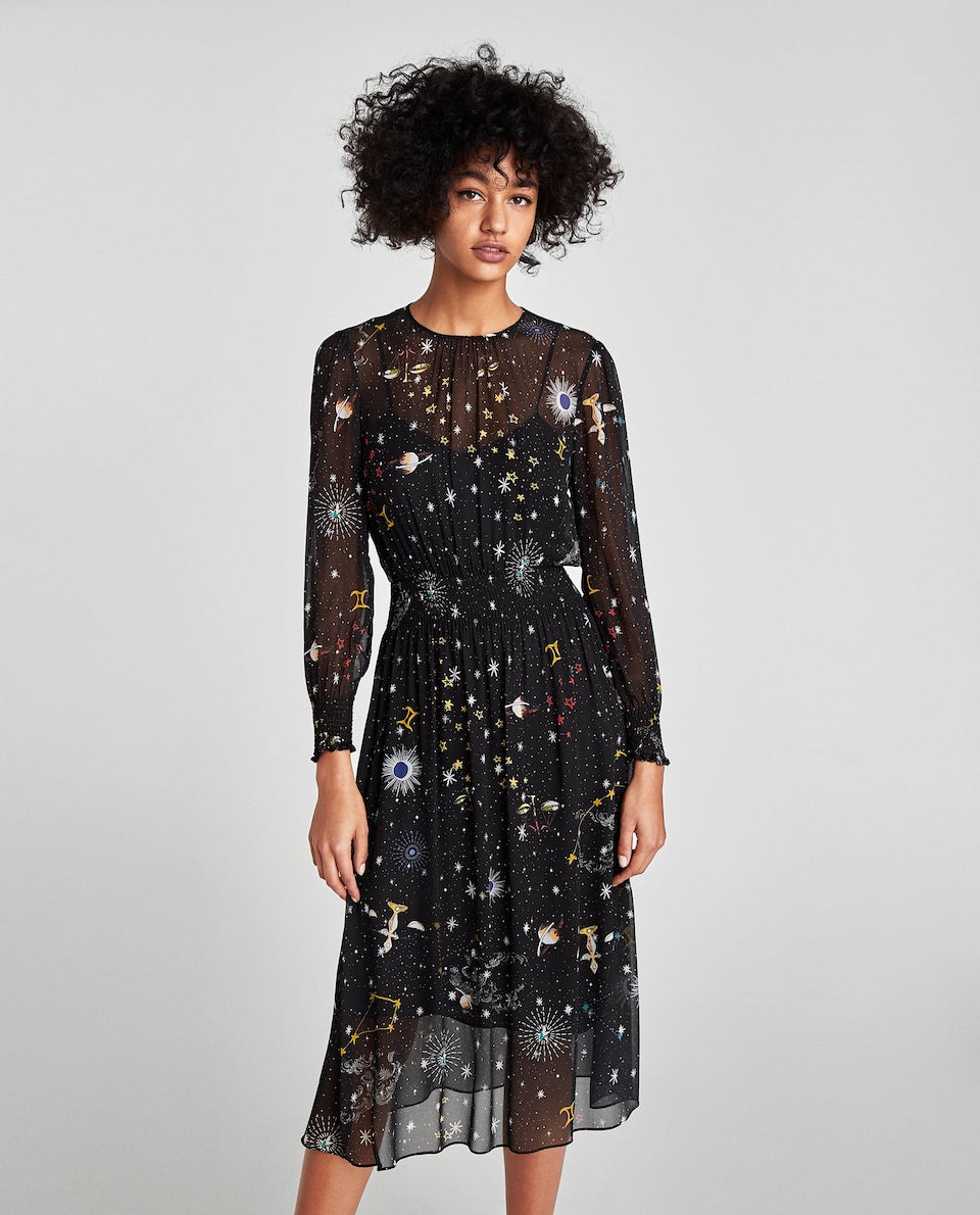 Printed Midi Dress at Zara, $89.90