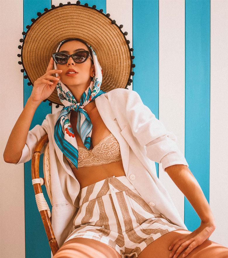 Womens fashion scarves at Aventura Mall in Miami