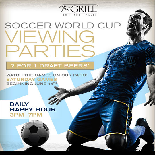 World Cup Watch Parties – Saturday Games at The Grill on the Alley