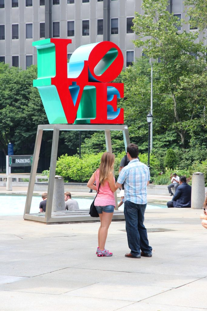 Love, by Robert Indiana, the newest addition to the Aventura Mall's collection.