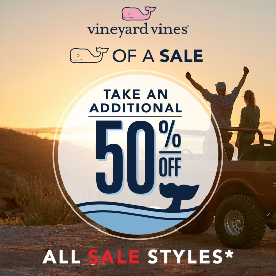 Whale Of A Sale Is Back! Vineyard Vines