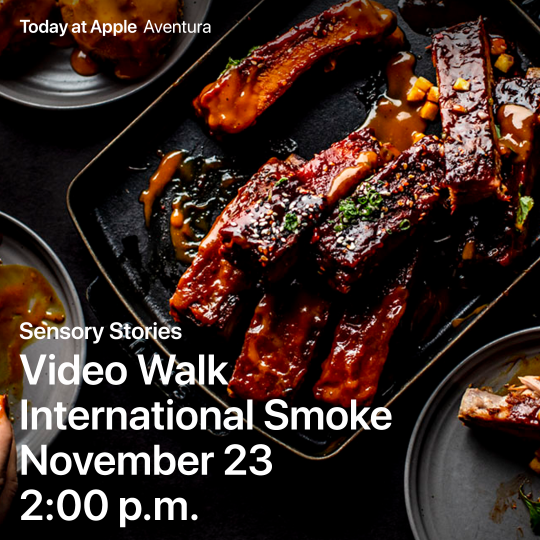 Apple Video Walk: Explore Five Senses with International Smoke