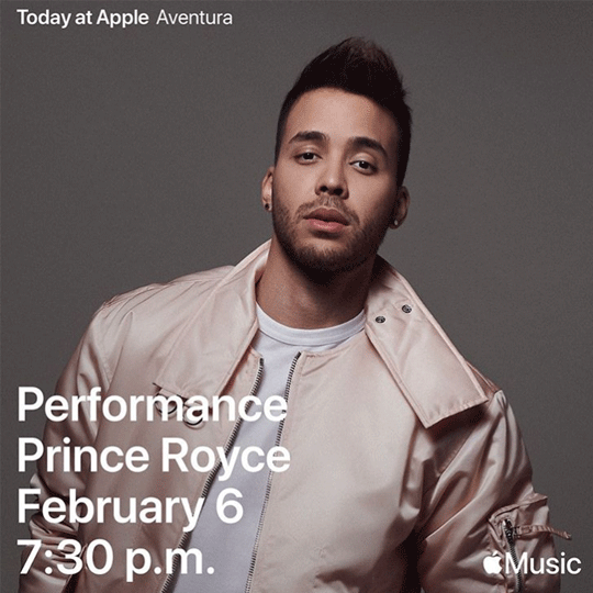 Today at Apple – Performance Prince Royce